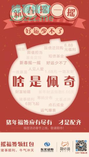 <东北证券融e通>啥是佩奇?福签、红包全部配齐(截至1月25日)