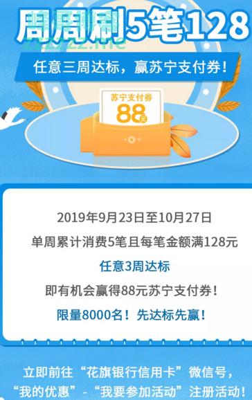 花旗银行xing/用卡赢限量8千份的88元券(截止10月27日)