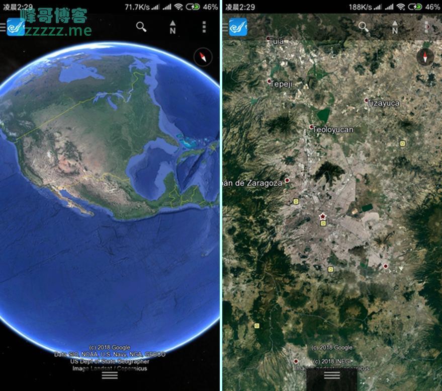 Google谷歌卫星地图绿色汉化版 可以看全球图片!